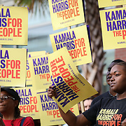 COLUMBIA, SC - JUNE 22:  South Carolina Democratic Party Convention attendees line up outside of the Metropolitan Convention Center  in Columbia, SC on June, 22 2019. Many of the Democratic candidates running for president are in Columbia to make appearances at the South Carolina Democratic Party Convention and the Planned Parenthood Election Forum on June 22.(Logan Cyrus for AFP)
