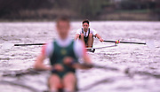 © 2000 All Rights Reserved - Peter Spurrier Sports Photo. <br />Tel 44 (0) 1784-440 771  <br />Mobile 44 (0) 973 819 551<br />email pictures@rowingpics.com<br />Thames World Sculling Championships<br />TWSC<br />Peter Haining<br />LM1X 20010301 Thames World Sculling Challenge, Putney, London