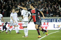 FOOTBALL - FRENCH CHAMPIONSHIP 2011/2012 - L1 - PARIS SAINT GERMAIN v TOULOUSE FC  - 14/01/2012 - PHOTO JEAN MARIE HERVIO / REGAMEDIA / DPPI - JOY NENE (PSG) AFTER HIS GOAL