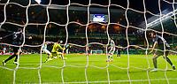 23/10/14 UEFA EUROPA LEAGUE<br /> CELTIC v FC ASTRA GIURGIU<br /> CELTIC PARK - GLASGOW<br /> Celtic's Stefan Johansen (2nd from left) scores his side's second goal of the game