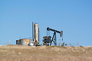 Oklahoma OK USA, Osage Indian reservation and Tallgrass Prairie reserve. pump at an oil well