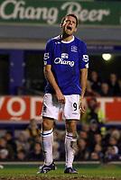 Photo: Paul Thomas.<br /> Everton v Tottenham Hotspur. The Barclays Premiership. 21/02/2007.<br /> <br /> A frustrated James Beattie of Everton.