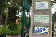Entrance to the Gardens of Augustus originally known as Krupp Gardens after the famous German industrialist, Capri Island, Italy