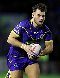 Warrington's Joe Philbin during the Betfred Super League match at the Halliwell Jones Stadium, Warrington. PRESS ASSOCIATION Photo. Picture date: Thursday February 1, 2018. See PA story RUGBYL Warrington. Photo credit should read: Richard Sellers/PA Wire. RESTRICTIONS: Editorial use only. No commercial use. No false commercial association. No video emulation. No manipulation of images.