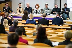"""Okrogla miza """"Kako razumemo načeli pravičnosti in dobrega upravljanja?"""" na Pravni fakulteti Univerze v Ljubljani, December 08, 2016, Ljubljana, Slovenia. Photo by Vid Ponikvar / Sportida"""