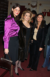 Left to right,KATRINA PAVLOS, actress CATHERINE DENEUVE and VANESSA WINGATE at a special Grand Classic screening of Place Vendome to celebrate Catherine Deneuve as MAC Beauty Icon 3 held at The Elecric Cinema, Portobello Road, London W11 on 30th January 2006.<br />