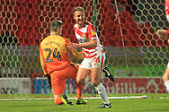 GOAL James Coppinger celebrates scoring 5-0  during the EFL Sky Bet League 1 match between Doncaster Rovers and Rochdale at the Keepmoat Stadium, Doncaster, England on 1 January 2019.