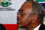 DURBAN - 30 October 2016 - Willies Mchunu, the premier of South Africa's KwaZulu-Natal province, speaks at a press conference about the establishment of a Commission of Inquiry to investigate political violence in the province. In the run up to the country's local government (municipal) elections at least 20 local politicians were killed in 2016 alone. Picture: Allied Picture Press/APP
