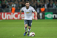 Juan Mata Midfielder of Manchester United during the Europa League match between Saint-Etienne and Manchester United at Stade Geoffroy Guichard, Saint-Etienne, France on 22 February 2017. Photo by Phil Duncan.