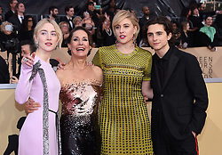 24th Annual Screen Actors Guild Awards held at the Shrine Exposition Center. 21 Jan 2018 Pictured: Saoirse Ronan, Laurie Metcalf, Greta Gerwig and Timothee Chalame. Photo credit: OConnor-Arroyo / AFF-USA.com / MEGA TheMegaAgency.com +1 888 505 6342