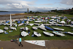 Day 4 NeilPryde Laser National Championships 2014 held at Largs Sailing Club, Scotland from the 10th-17th August.<br /> <br /> The fleet in Largs<br /> <br /> Image Credit Marc Turner