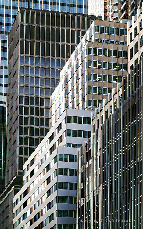 Compressed view of office buildings on Park Avenue, mid-town Manhattan, New York City, New York