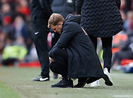 Eddie Howe manager of Bournemouth dejected during the Premier League match at Anfield, Liverpool. Picture date: 7th March 2020. Picture credit should read: Darren Staples/Sportimage