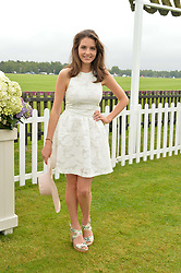 GENEVIEVE GAUNT at the Cartier Queen's Cup Polo final at Guard's Polo Club, Smiths Lawn, Windsor Great Park, Egham, Surrey on 14th June 2015