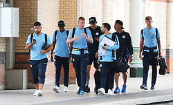 11818… The Manchester City team get the train to London on Saturday afternoon for the Arsenal match… Sergio Aguero, Fernandinho, Kevin De Bruyne, Ederson, Gabriel Jesus and John Stones