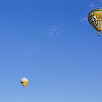 Participants prepare for takeoff during the Velence Lake International Balloon Festival in Agard, Hungary on September 07, 2012. ATTILA VOLGYI