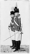 Robert Clive (1725-1774) Clive of India. English soldier and colonial administrator (foreground) and a Major Skey. Etching by John Kay 1798