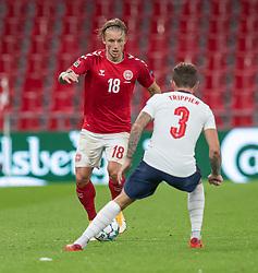 Daniel Wass (Danmark) under UEFA Nations League kampen mellem Danmark og England den 8. september 2020 i Parken, København (Foto: Claus Birch).