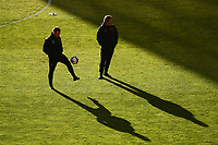Football - 2020 / 2021 Sky Bet League One - Charlton Athletic vs Lincoln City - The Valley<br /> <br /> Lincoln City staff during the pre-match warm-up.<br /> <br /> COLORSPORT/ASHLEY WESTERN