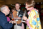 JOHN KINDNESS; PHILIP MILES; GRAYSON PERRY, Tate Britain Summer party. Tate. Millbank. 27 June 2011. <br /> <br />  , -DO NOT ARCHIVE-© Copyright Photograph by Dafydd Jones. 248 Clapham Rd. London SW9 0PZ. Tel 0207 820 0771. www.dafjones.com.