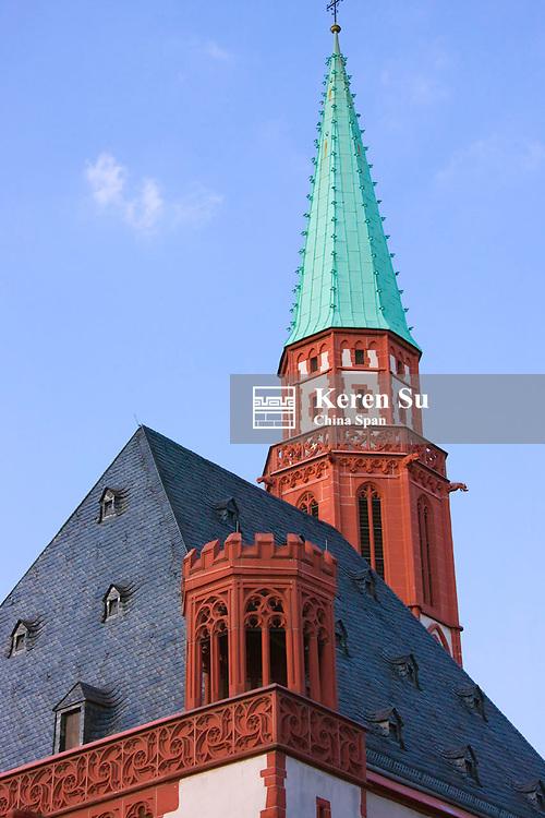 Old Nicholas Church on Romerberg Square, Frankfurt, Germany