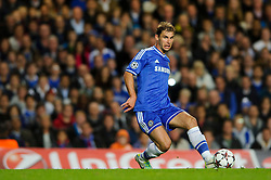 Chelsea Defender Branislav Ivanovic (SRB) in action during the second half of the match - Photo mandatory by-line: Rogan Thomson/JMP - Tel: 07966 386802 - 18/09/2013 - SPORT - FOOTBALL - Stamford Bridge, London - Chelsea v FC Basel - UEFA Champions League Group E