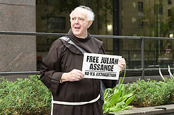 May 2, 2019 - New York, NY, U.S - Small rally in support of Julian Assange held in front of the British consulate in New York City, New York on May 2, 2019. (Credit Image: © Michael Brochstein/ZUMA Wire)