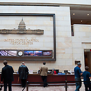 Information desk of the United States Capitol Visitor Center