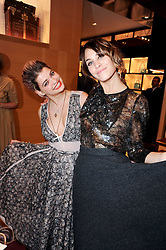 Left to right, PIXIE GELDOF and ALEXA CHUNG at a party to celebrate the opening of the Louis Vuitton Bond Street Maison, New Bond Street, London on 25th May 2010.