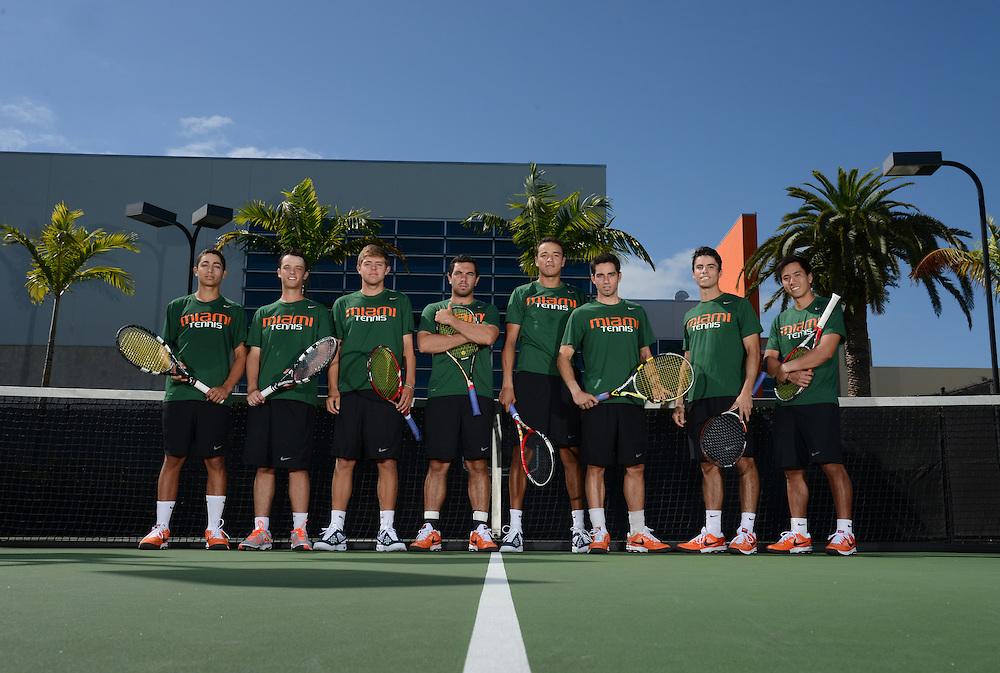 2014 Miami Hurricanes Men's Tennis Team Photo