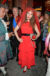LILY LEWIS at the Tatler Magazine's Kings & Queens party held at Savini at Criterion, Piccadilly, London on 1st June 2016.