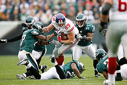 New York Giants tight end Kevin Boss #89 carries the ball during the NFL game between the New York Giants and the Philadelphia Eagles on November 1st 2009. The Eagles won 40 to 17 at Lincoln Financial Field in Philadelphia, Pennsylvania. (Photo By Brian Garfinkel)
