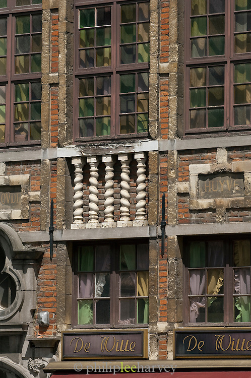Detail of a building in the Grand .Place, Brussels, Belgium