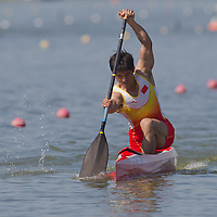 Huang Shaokun from China paddles in the C1 1000m Canoe semi-final during the 2011 ICF World Canoe Sprint Championships held in Szeged, Hungary. Thursday, 18. August 2011. ATTILA VOLGYI