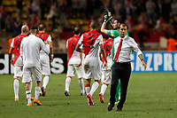 Leonardo Jardim (R) reacts after match during the UEFA Champions League 2014/2015 football match, Group C, between AS Monaco and Bayer Leverkusen on September 16, 2014 at Louis II stadium in Monaco. Photo Philippe Laurenson / DPPI