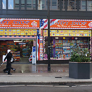 "U.S. sweets ""Candy Shop"" dominate Oxford Street, London, UK"