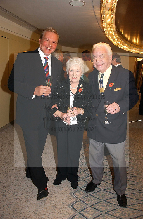 Left to right, JESS CONRAD, JUNE WHITFIELD and BARRY CRYER at the Lady Taverners Tribute lunch in honour of Ronnie Corbett held at The Dorchester Hotel, Park Lane, London on 3rd November 2006.<br />