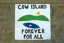 Cow Island Sign