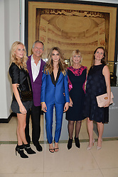 Left to right, POPPY DELEVINGNE, CHARLES DELEVINGNE, CARA DELEVINGNE, PANDORA DELEVINGNE and CHLOE GRANT at a Dinner to celebrate the launch of the Mulberry Cara Delevingne Collection held at Claridge's, Brook Street, London on 16th February 2014.