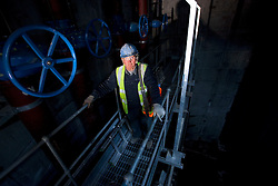 Olympic Park portrait. Portrait of Finbar Moran, a carpenter, working on the primary foul drainage construction project. Picture taken on 22 Sep 09 by David Poultney.