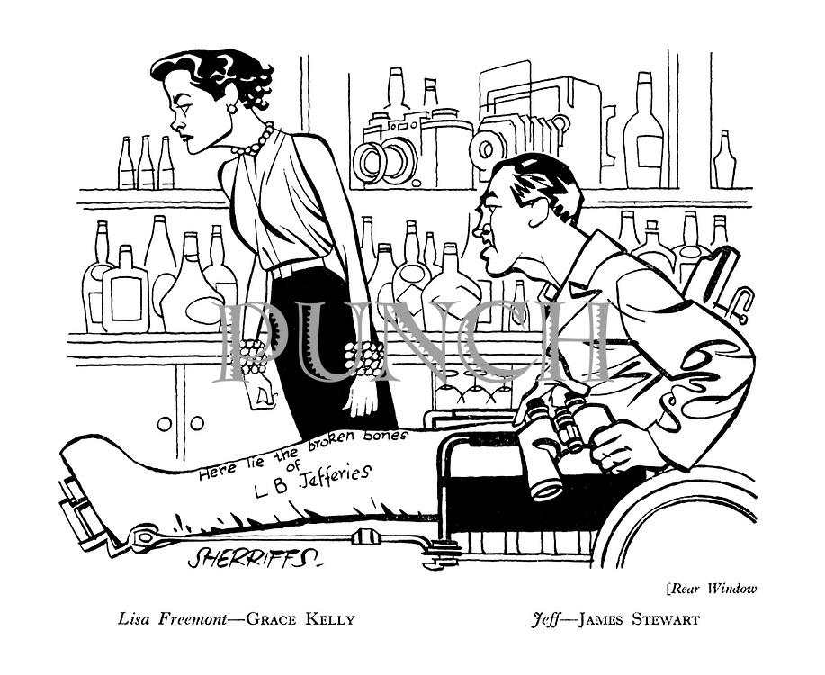 Rear Window : Lisa Freemont - Grace Kelly. Jeff - James Stewart