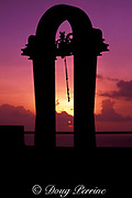 Japanese bell shrine at Two Lovers Point, Guam, USA Micronesia ( Western Pacific Ocean )