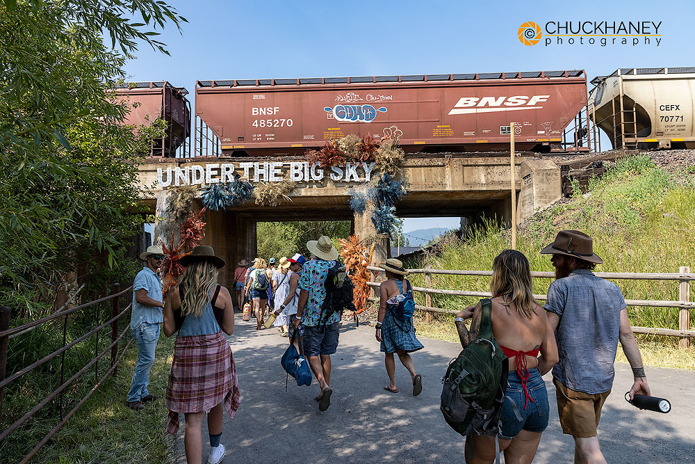 Festival goers entering at the Under the  Big Sky Music Festival in Whitefish, Montana, USA