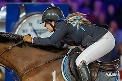 Goldstein Danielle, ISR, Caspar 13<br /> Longines FEI World Cup presented by Land Rover<br /> Vlaanderens Kerstjumping<br /> Memorial Eric Wauters<br /> Jumping Mechelen 2017<br /> © Hippo Foto - Dirk Caremans<br /> 30/12/2017