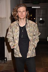 Dougie Poynter at PPQ LFW Autumn Winter 2017 show, Crypt on the Green, Clerkenwell, London England. 17 February 2017.