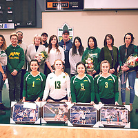 Women's Volleyball home game on Sat Jan 26 at Centre for Kinesiology, Health & Sport. Credit: Arthur Ward/Arthur Images