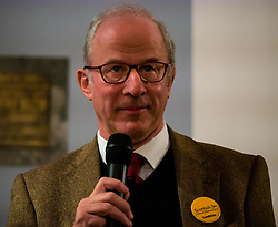 North Berwick, East Lothian, Scotland, United Kingdom, 28 November 2019. General Election: Hustings for candidates seeking election as MP for East Lothian. Pictured: Robert O'Riordan, Scottish Liberal Democrats candidate.<br /> Sally Anderson | EdinburghElitemedia.co.uk