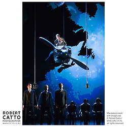 Berthold Brecht & Kurt Weill's operas The Lindbergh Flight / The Flight Over The Ocean and The Seven Deadly Sins, directed by Francois Girard, are seen in performance at the St James Theatre in Wellington, New Zealand.