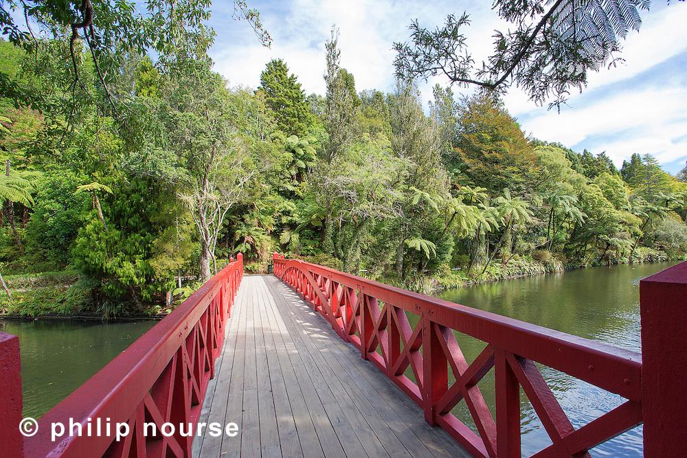 Poet's Bridge, Pukekura Park, New Plymouth, North Island, New Zealand