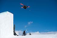 Alex Beaulieu-Marchand during Ski Slopestyle Practice during 2015 X Games Aspen at Buttermilk Mountain in Aspen, CO. ©Brett Wilhelm/ESPN